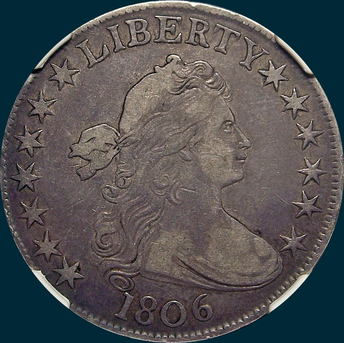 1806, O-109, Draped Bust, Half Dollar