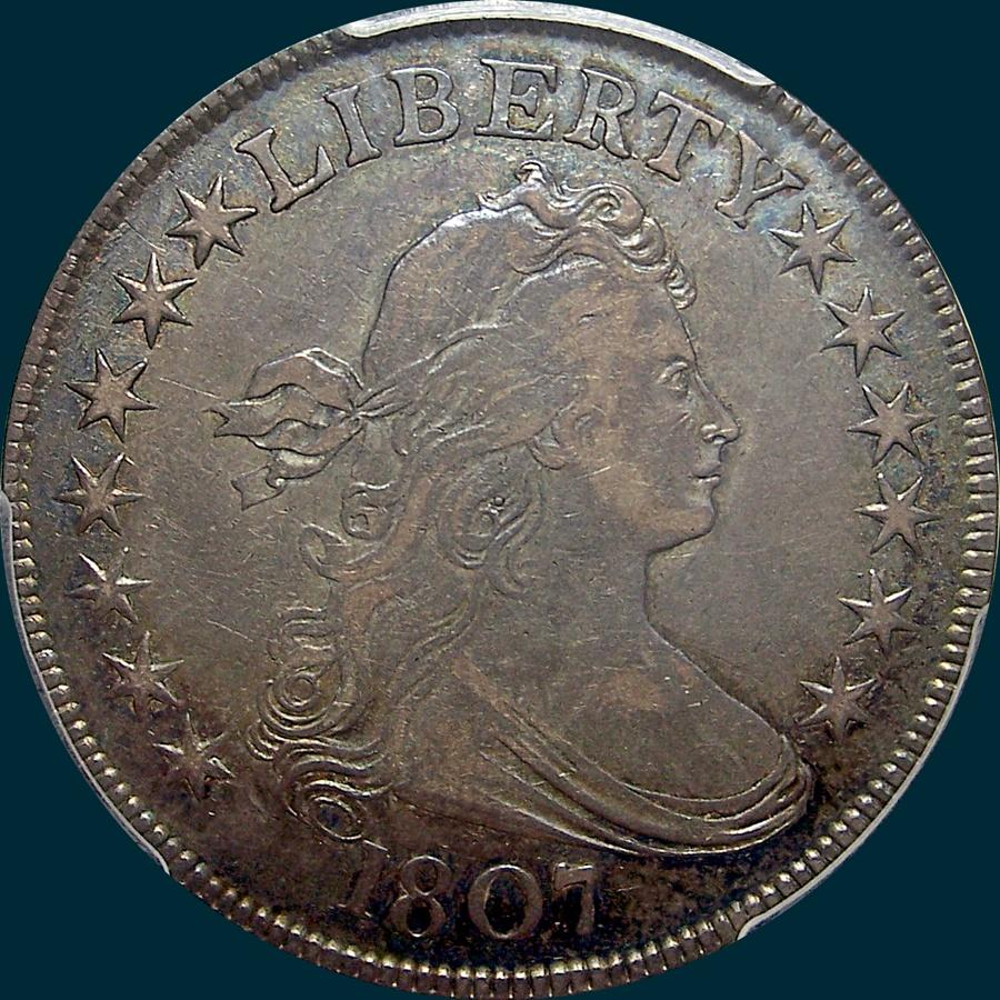 1807, O-110, Draped Bust, Half Dollar