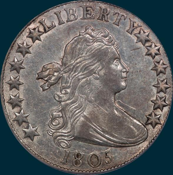 1805, O-104, Draped Bust, Half dollar