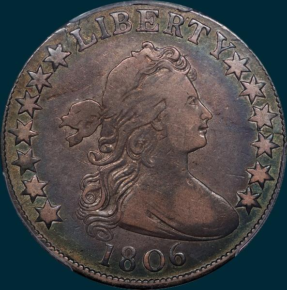 1806, O-110, Draped Bust, Half Dollar