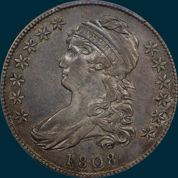 1808 O-110, Caped Bust Half Dollar