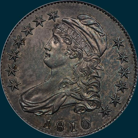 1810 O-101, Capped Bust, Half Dollar