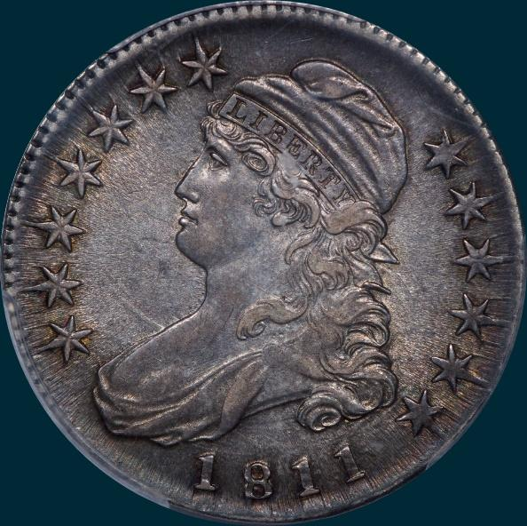 1811 o-113, small 8, capped bust half dollar