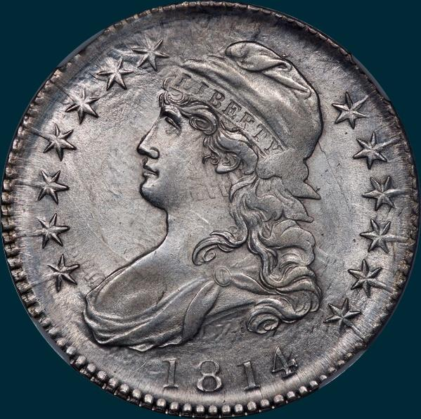 1814 O-106, Capped bust half dollar