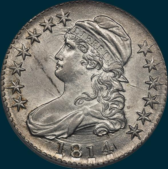 1814, O-107, Capped Bust, Half Dollar