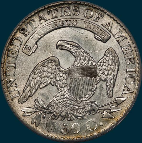 1827 O-139, Capped bust half dollar