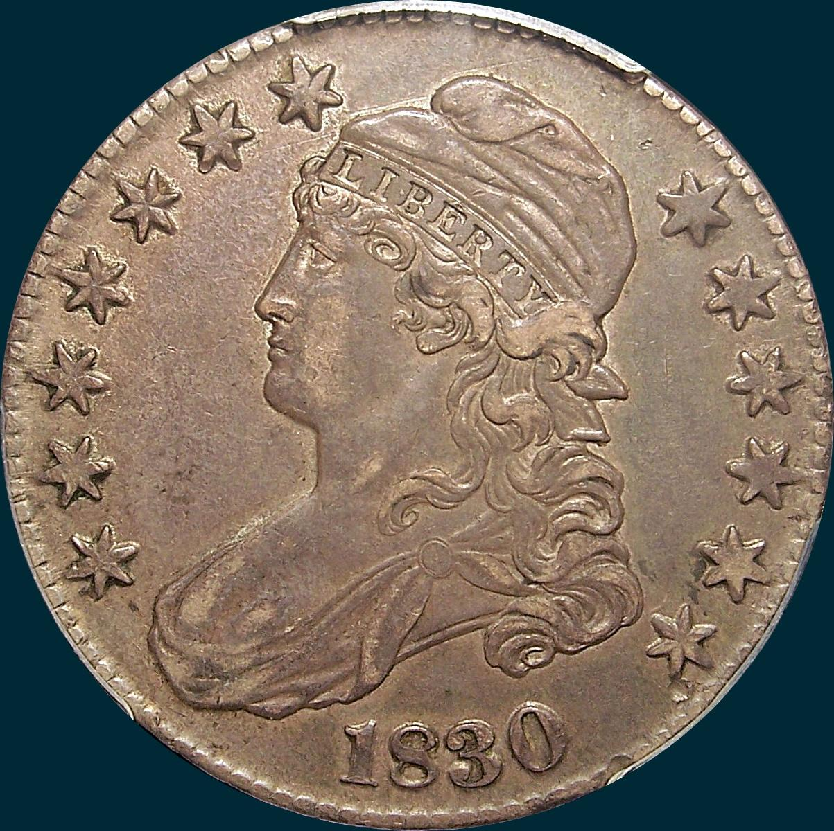1830, O-122, Large 0, Capped Bust, Half Dollar