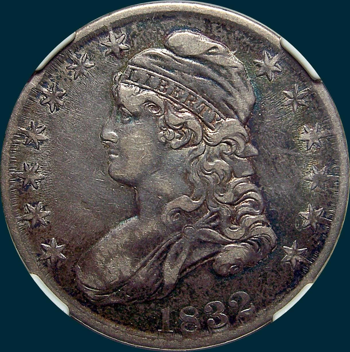 1832 o-114, capped bust half dollar