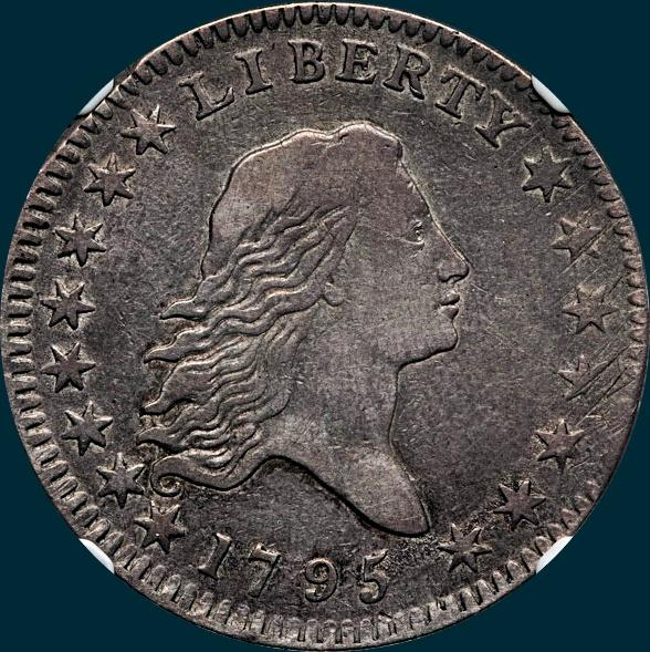 1795, O-103a,  Flowing Hair, Half Dollar