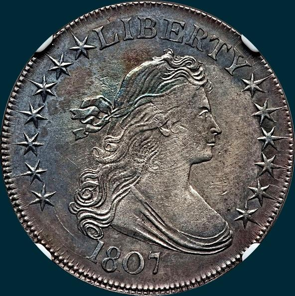 1807, O-107a, Draped Bust, Half Dollar