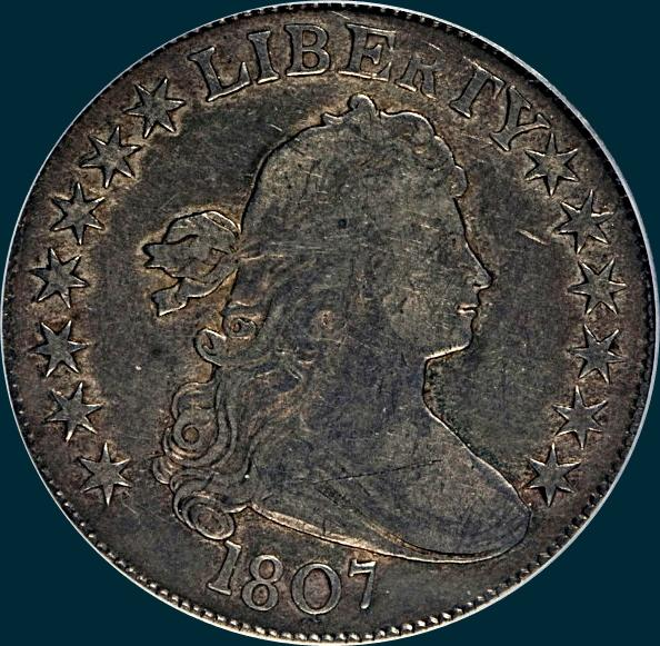 1807, O-115, Draped Bust, Half Dollar