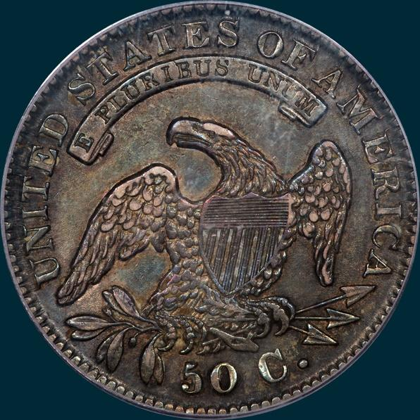 1832, O-106, Small Letters, Capped Bust, Half Dollar