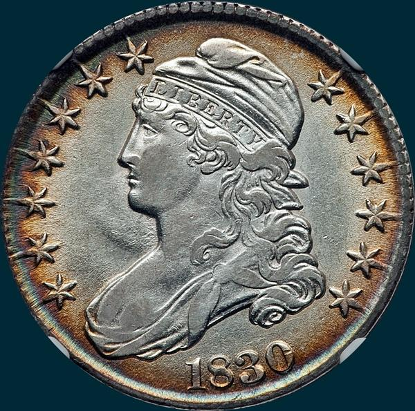 1830 o-112, capped bust half dollar