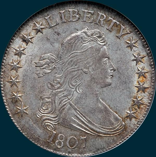 1807, O-106, Draped Bust, Half Dollar