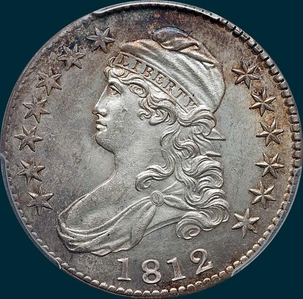 1812 O-105, Capped bust half dollar