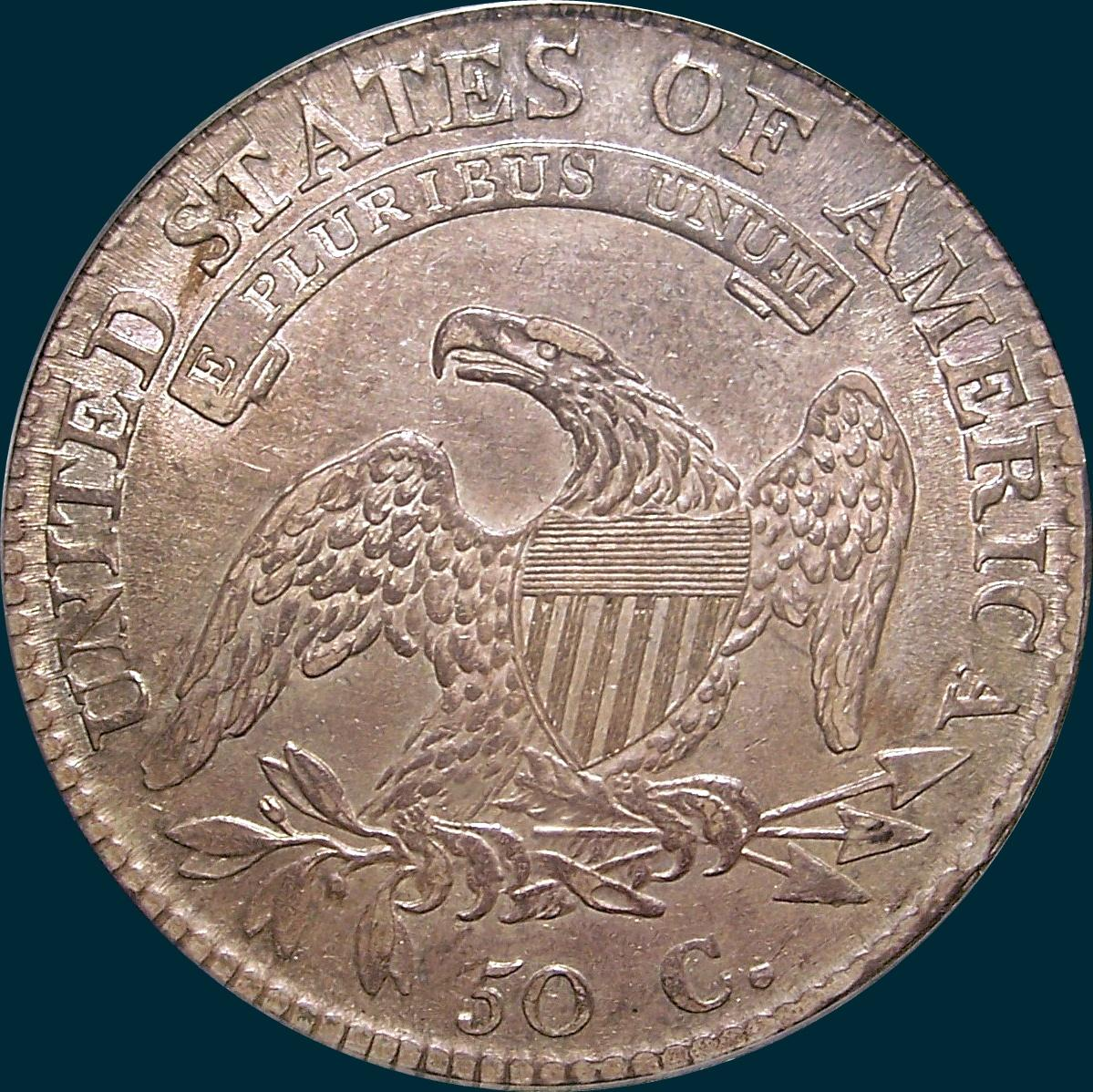 1812/1 Small 8 O-102, Capped Bust, Half Dollar