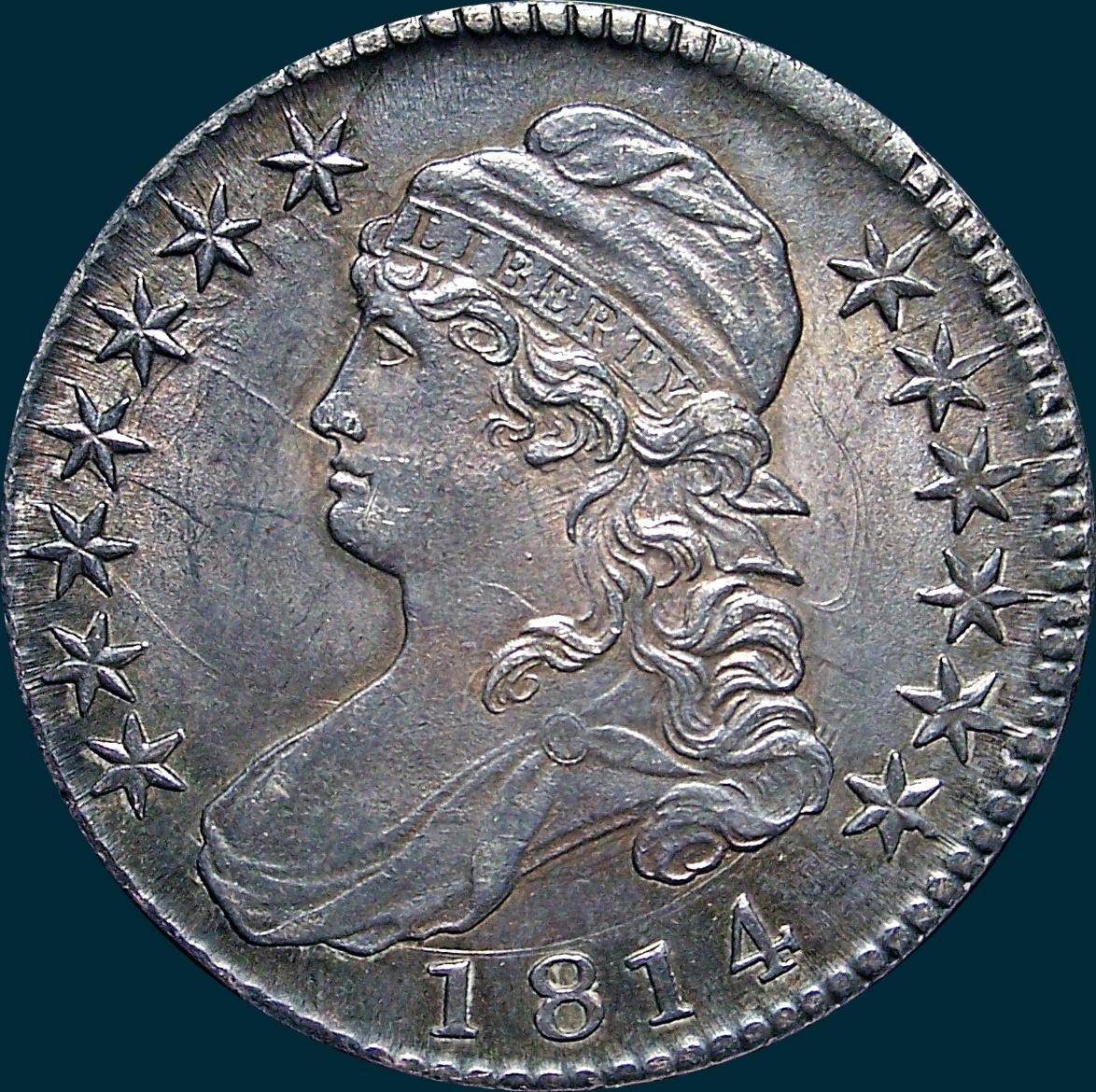 1814 O-103, Capped Bust Half Dollar