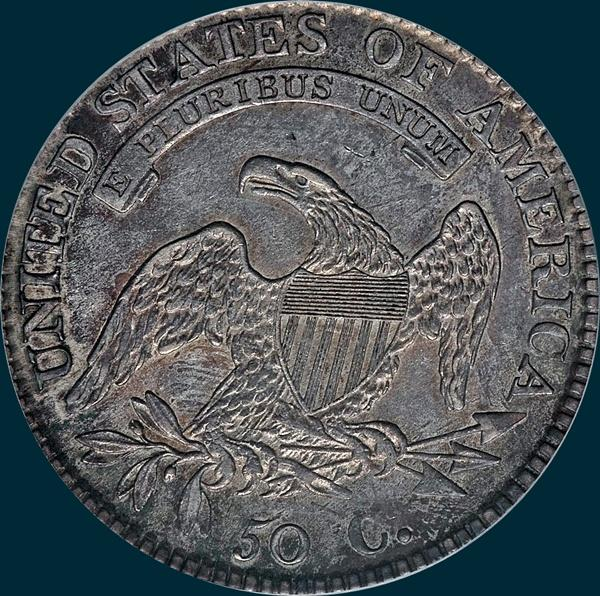 1812/1 Large 8 O-101, Capped Bust, Half Dollar