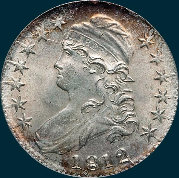 1812 O-106, Capped bust half dollar