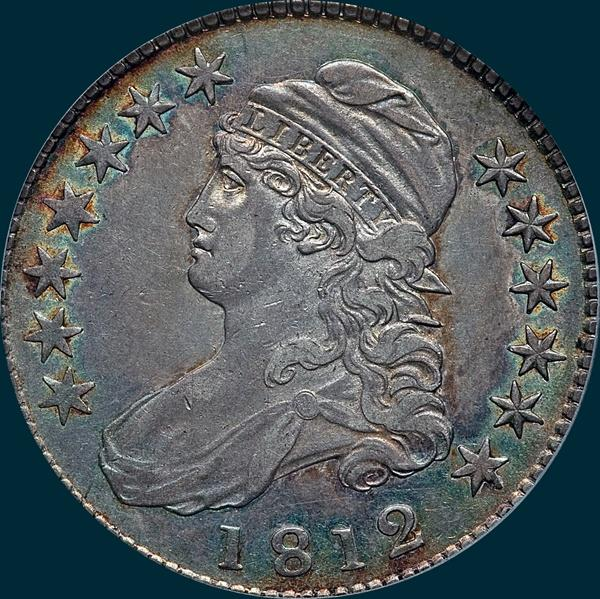 1812 o-109, capped bust half dollar