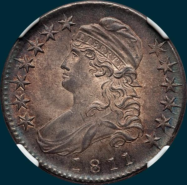 1811, O-106, Small 8, Capped Bust, Half Dollar