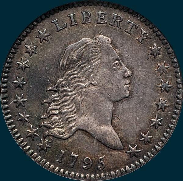 1795, O-120, Flowing Hair, Half Dollar