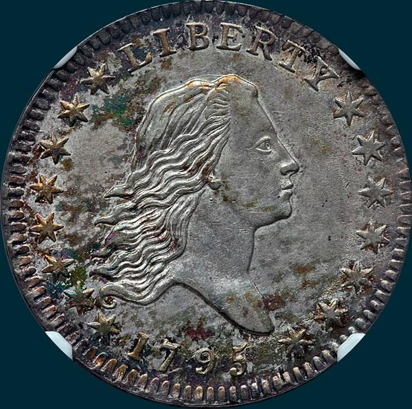 1795, O-102a  Flowing Hair, Half Dollar