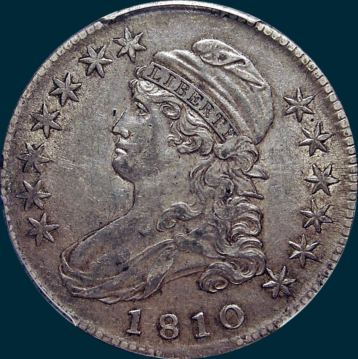 1810, O-105, Capped Bust, Half Dollar, Guido