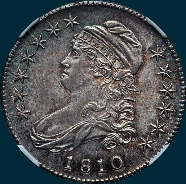 1810, O-106, Capped Bust, Half Dollar