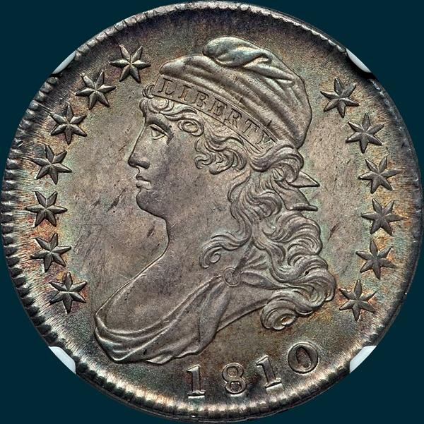 1810, O-108, Capped Bust, Half Dollar