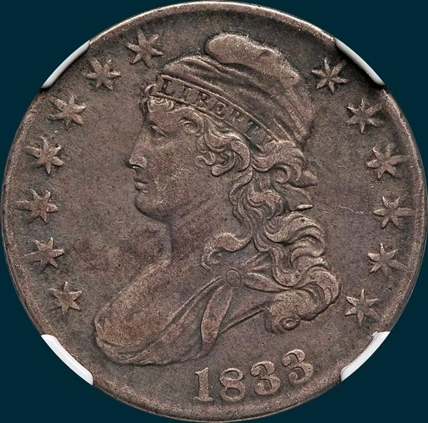 1828 O-123, capped bust, half dollar