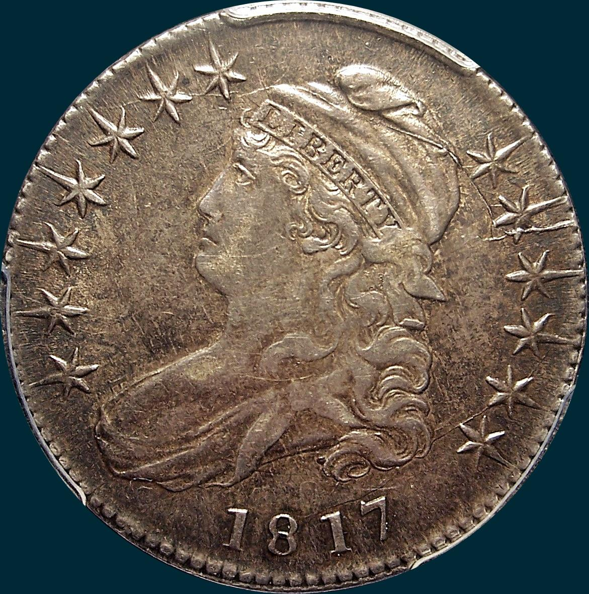 1817, O-105,Capped Buat, half dollar