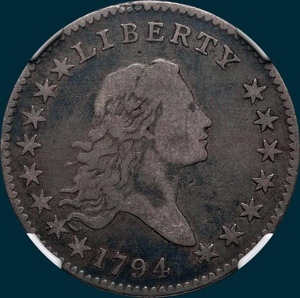 1794, O-105a, Flowing Hair, Half Dollar