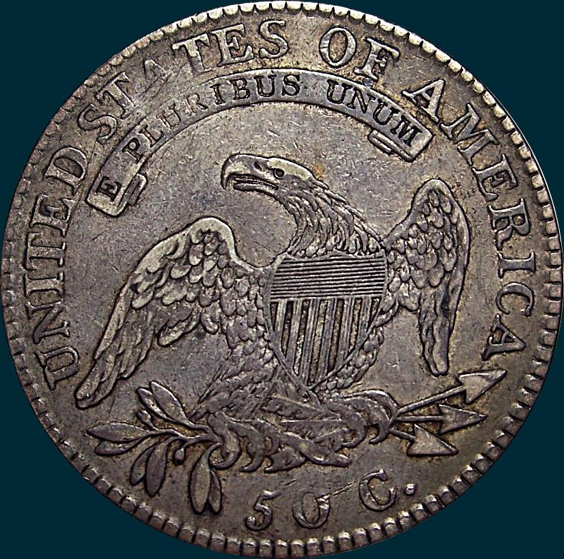 1818 O-111, Capped bust Half Dollar