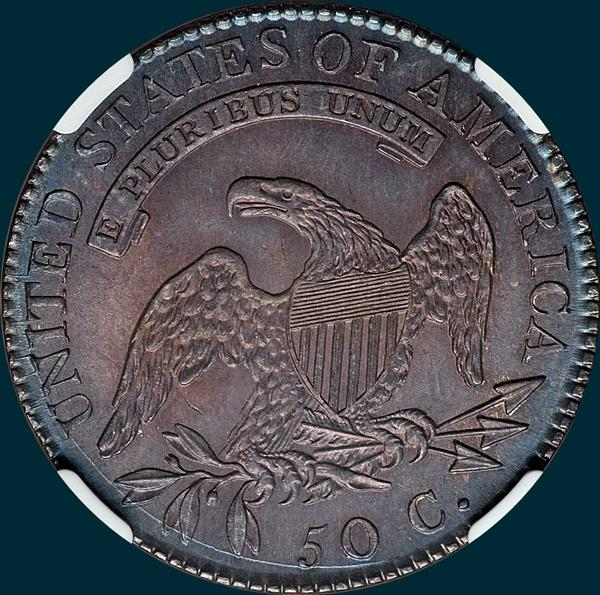 1818, O-112, capped bust. half dollar