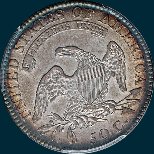 1818, O-114, capped bust, half dollar