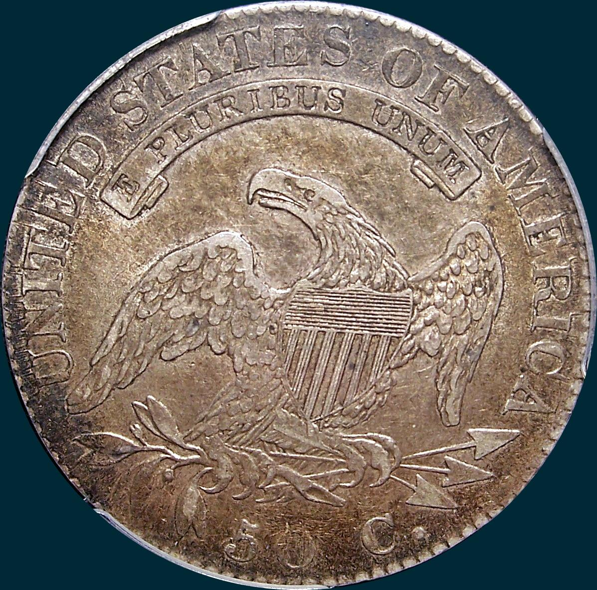 1819, O-104, Large 9 over 8, Capped Bust, Half Dollar