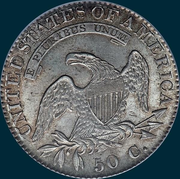 1821, O-105, Capped Bust, Half Dollar