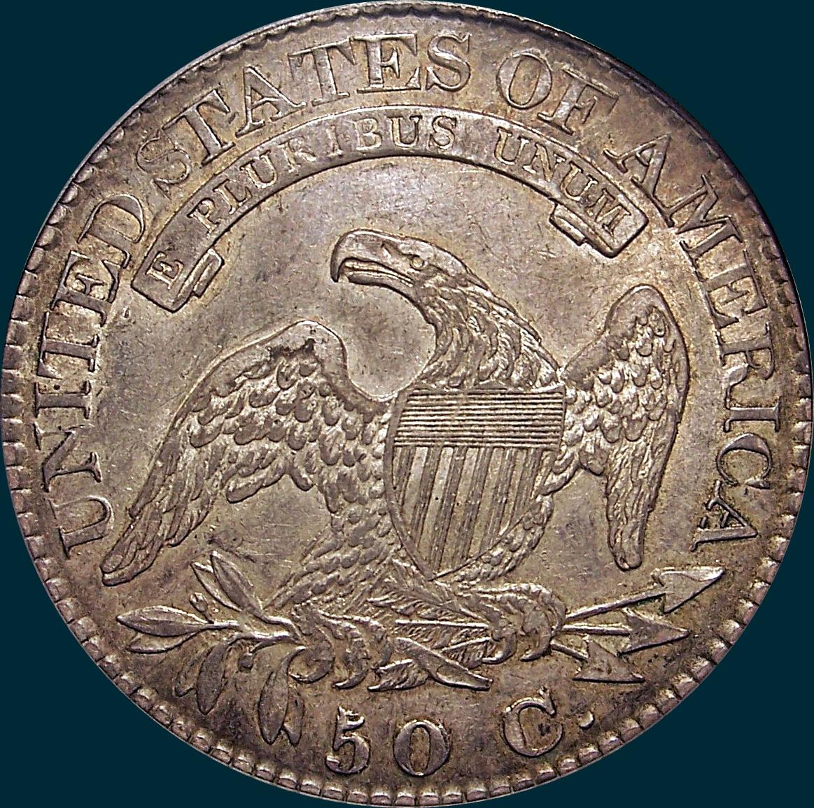 1825, O-111, Capped Bust, Half Dollar
