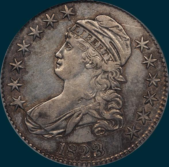 1823 O-109, Capped bust, half dollar