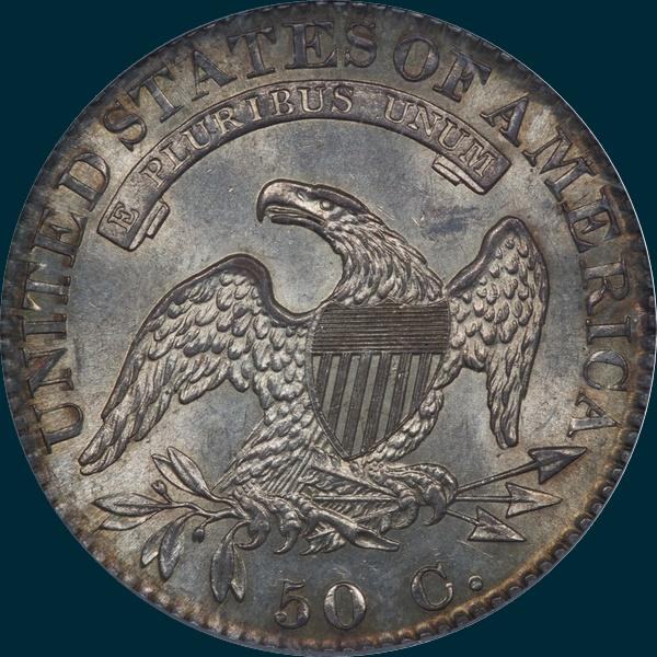 1822, O-113, Capped Bust, Half Dollar
