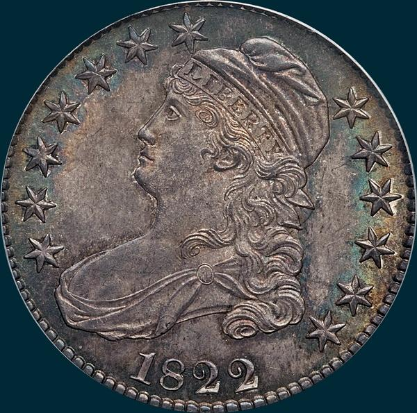 1822, O-114, Capped Bust, Half Dollar