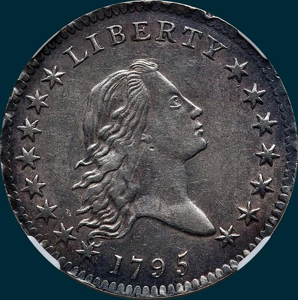 1795, O-131, Flowing Hair, Half Dollar