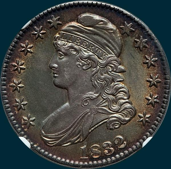 1832, O-102, Small Letters, Capped Bust, Half Dollar
