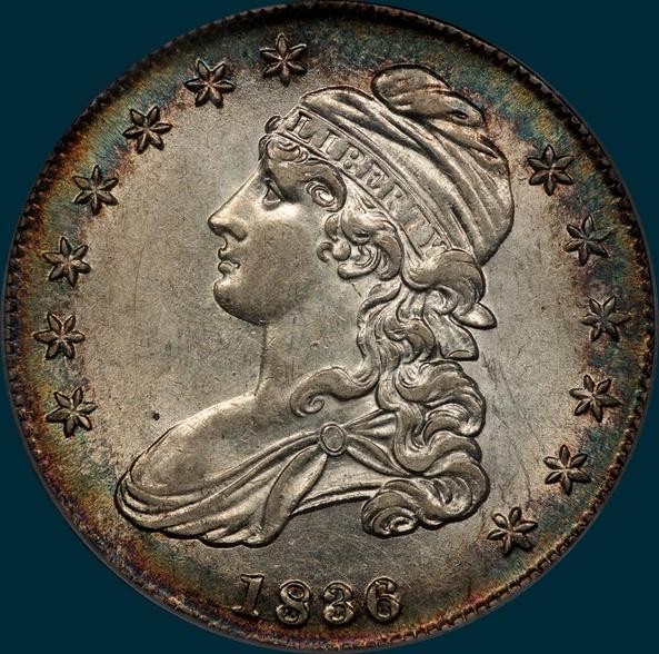 1836, O-108a, 1836 over 1336, Capped Bust, Half Dollar