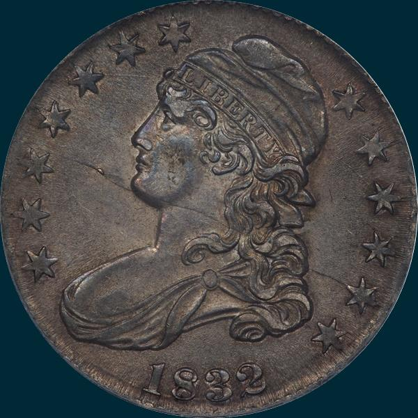 1832, O-120a, Small Letters, Capped Bust, Half Dollar