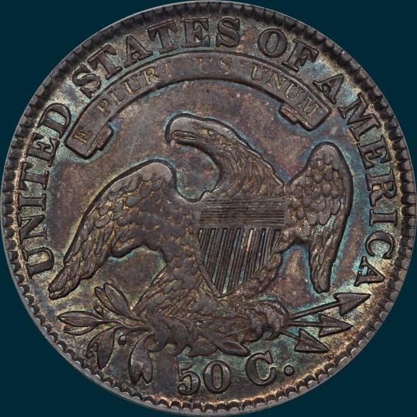 1834, O-103, Large Date, Large Letters, Capped Bust, Half Dollar