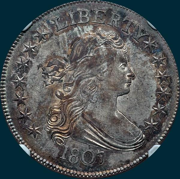 1807, O-101, Draped Bust, Half Dollar