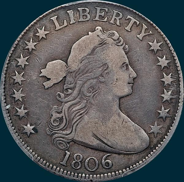 1806, O-127a, Draped Bust, Half Dollar