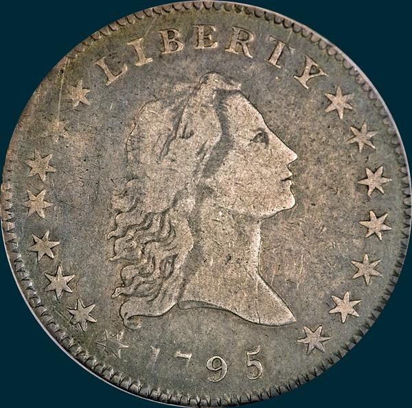 1795, O-127,  Flowing Hair, Half Dollar